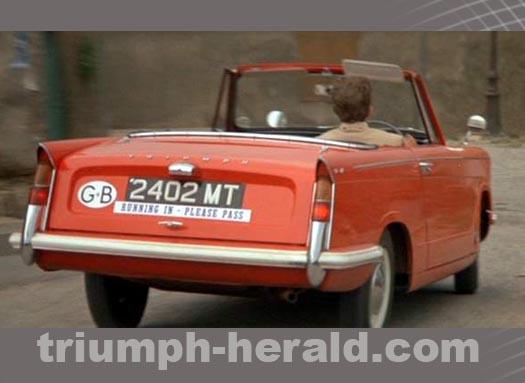 Red Triumph Herald Convertible